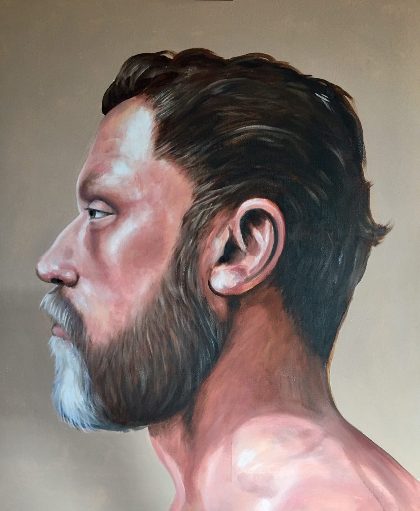 Andrew Delaney . Full .Looking Back.500x600mm