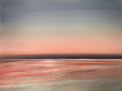 Still Waters 25 B:T:Beach Fading Light Salmon acrylic:board 61 x 45cm.jpg
